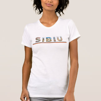 sibiu city romania landmark inside text symbol tra T-Shirt