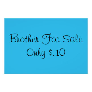 Sibling for Sale Print