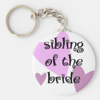 Sibling of the Bride Keychain