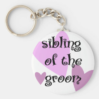 Sibling of the Groom Keychain