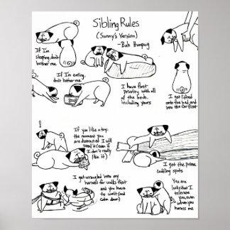 Sibling Rules (Older Pug's Version) Poster