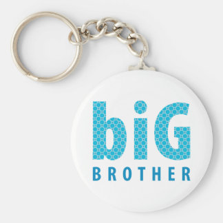 SIBLINGS COLLECTION - big brother {blue} Basic Round Button Key Ring