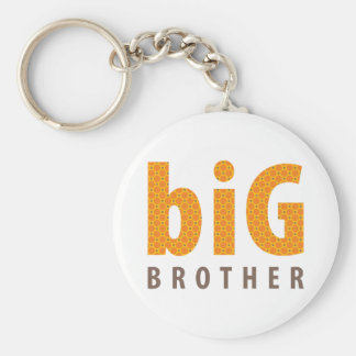 SIBLINGS COLLECTION - big brother {orange} Basic Round Button Key Ring