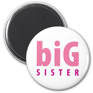 SIBLINGS COLLECTION - big sister {pink} Refrigerator Magnet