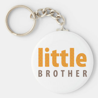 SIBLINGS COLLECTION - little brother {orange} Basic Round Button Key Ring