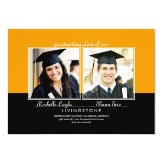 Siblings Two Photo Graduation Announcement