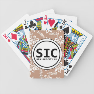 SIC Sea Isle City NJ Brown Playing Cards