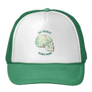 Sic Transit Gloria Mundi Vintage Turquoise Skull Cap