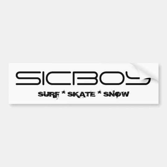 SICBOY BUMPER ENHANCER BUMPER STICKER