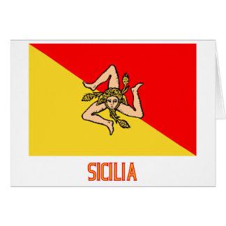 Sicilia flag with name card