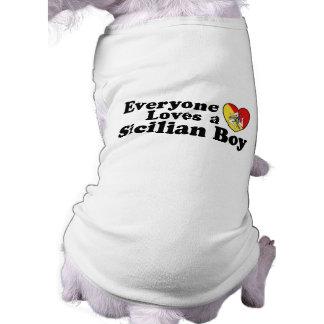 Sicilian Boy Sleeveless Dog Shirt