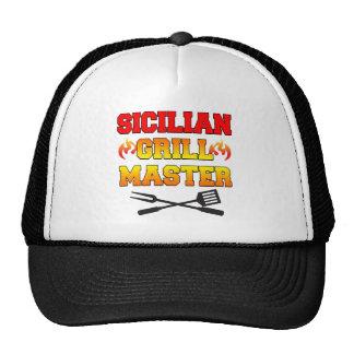 Sicilian Grill Master Trucker Hats