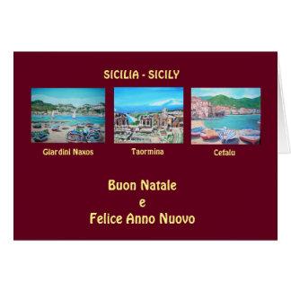 Sicilian Landscapes - Christimas Greeting Card