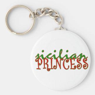 Sicilian Princess Basic Round Button Key Ring