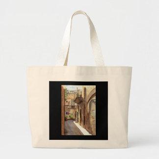 Sicilian street jumbo tote bag