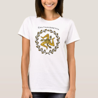 Sicilian Trinacria and Olive Wreath Personalize T-Shirt