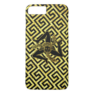 Sicilian Trinacria in Black and Gold iPhone 8 Plus/7 Plus Case