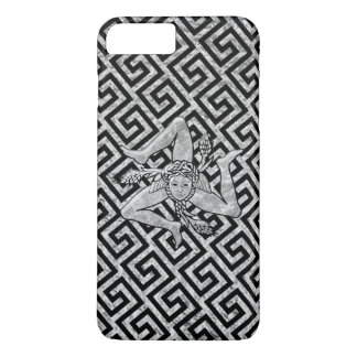 Sicilian Trinacria in Silver and Black iPhone 8 Plus/7 Plus Case