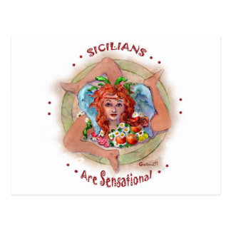 Sicilians are Sensational Postcard
