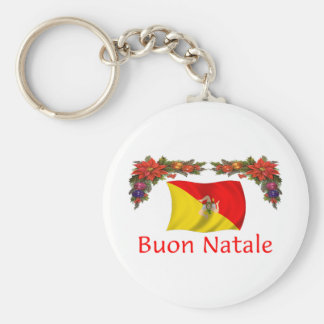 Sicily Christmas Key Chain