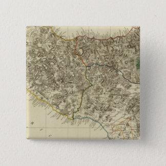 Sicily, Italy 15 Cm Square Badge