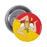 Sicily, Italy 6 Cm Round Badge