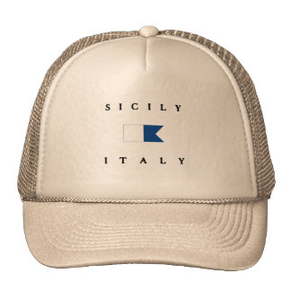 Sicily Italy Alpha Dive Flag Cap