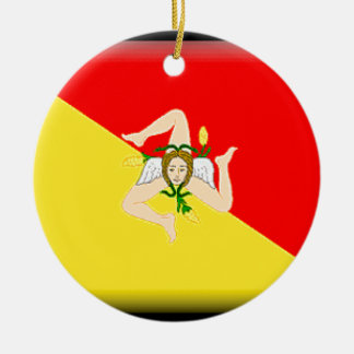 Sicily (Italy) Flag Christmas Ornament