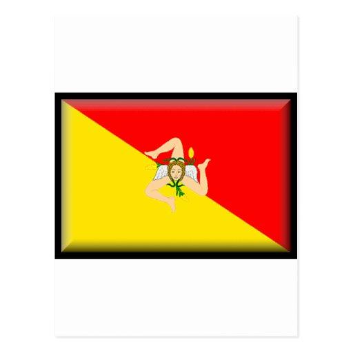 Sicily (Italy) Flag Post Card