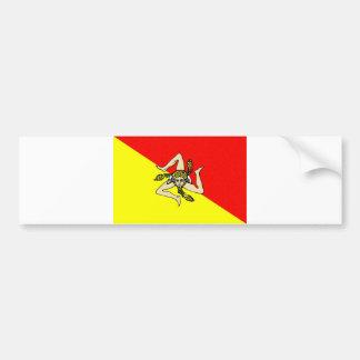 Sicily region flag italy sicilia county bumper stickers