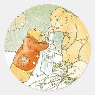 Sick Baby Prairie Dog Coughs Round Sticker