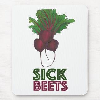 Sick Beets (Beats) Red Beet Vegetable Garden Mouse Mat