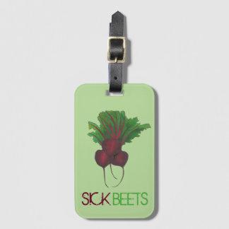 Sick Beets (Beats) Red Beet Vegetarian Funny Food Luggage Tag