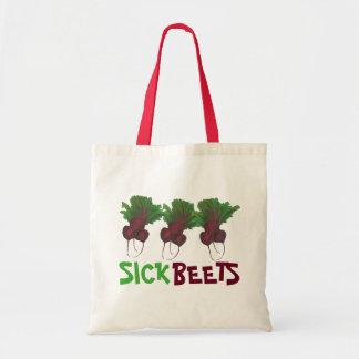 Sick Beets (Beats) Red Beet Vegetarian Vegan Food Tote Bag