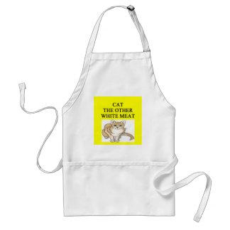 sick cat hater joke standard apron