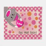 Sick Child Sock Monkey Blanket Pink