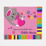 Sick Child Sock Monkey Blanket Pink II