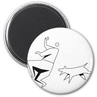 sick 'em 6 cm round magnet