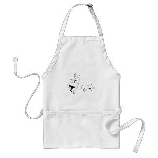 sick 'em adult apron