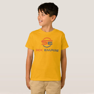 Sick Empire - Boys Tee 4 (Orange & Grey Logo)