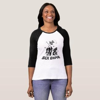 Sick Empire - Destiny Flag Tee 7 (Womens Black & W