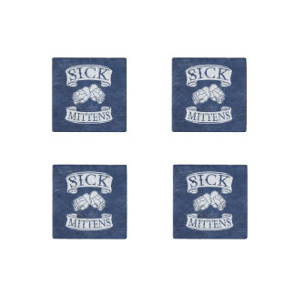 Sick Mittens Funny Hockey Slang Stone Magnet