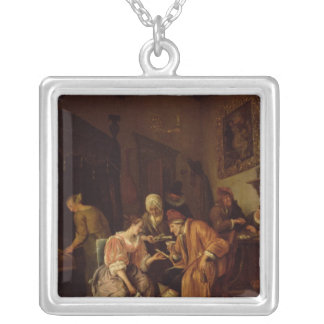 Sick old Man Silver Plated Necklace