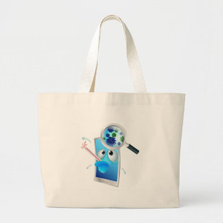 Sick phone concept large tote bag
