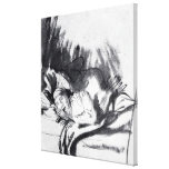 Sick woman in a bed, maybe Saskia Canvas Print