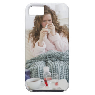 Sick woman on couch tough iPhone 5 case