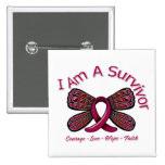 Sickle Cell Anaemia Butterfly I Am A Survivor Pin