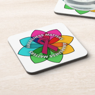 Sickle Cell Anemia Awareness Matters Petals Beverage Coasters