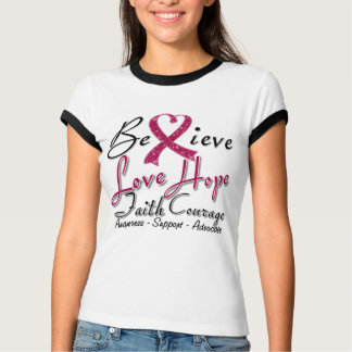 Sickle Cell Anemia Believe Heart Collage T Shirt