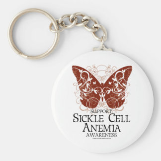 Sickle Cell Anemia Butterfly Key Ring